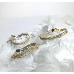 Bransoletka mini łączona złota