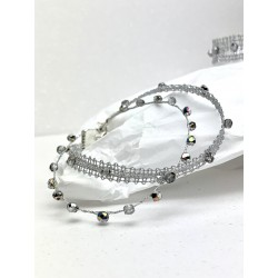 Bransoletka mini łączona srebrna