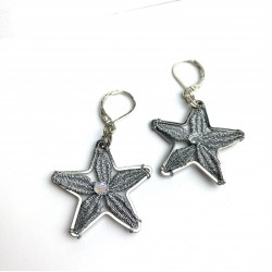 Kolczyki gwiazdki stare srebro