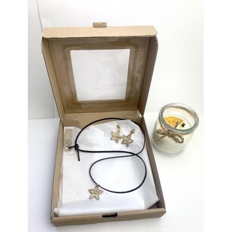 Świąteczny box prezentowy z koronkową biżuteria 3