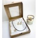 Świąteczny box prezentowy z koronkową biżuteria 4