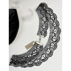 Kolia srebrno-czarna