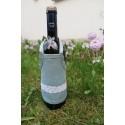 Fartuszek na wino - niebieski